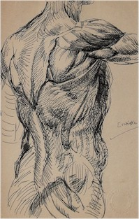 anatomical study by robert lenkiewicz (1941-2002)